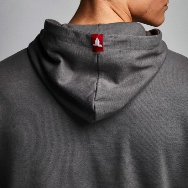 IAMTORO Hoodie Logo Grijs back