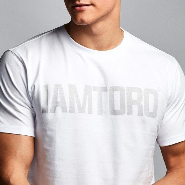IAMTORO T-Shirt Logo Wit zoom